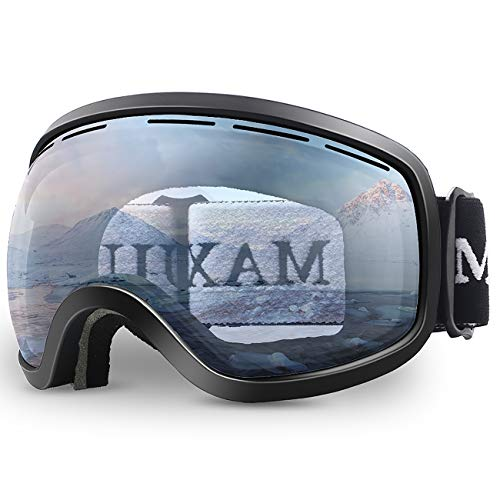 Ski Goggles,OTG Anti-Fog Snowboard Skate Snowmoblie Double Layer Spherical Lens Snow Goggles Men Women Juli M3