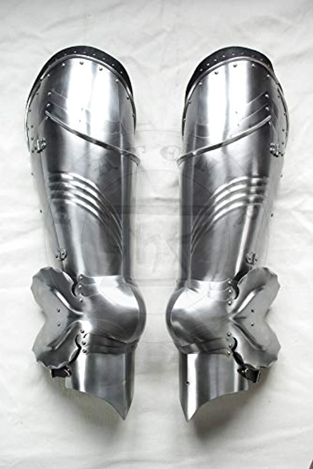 LMHANDICRAFTS Medieval Gothic Leg Guard Armor Set Metallic One Size Reenactment