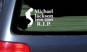 Michael Jackson Memorial Sticker RIP - White Vinyl