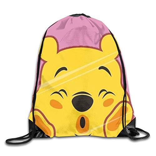 shenguang Unisex Winnie The Pooh Sports Mochila con cordón Bolsa de Gimnasio