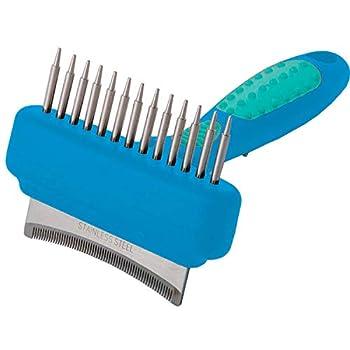 Vivog Rateau Brosse demelant et éliminateur pour Chien Fourrure épaisse et Poils durs (2x13 dents-37 Dents Larges)