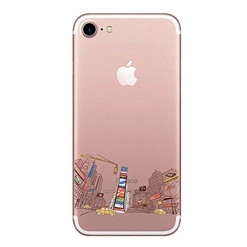 Oihxse Compatibile per Cover iPhone 8/7 Cover iPhone SE(2020), Trasparente Custodia in Silicone con Protezione Flessibile e TPU di Alta Case Antiurto Antigraffio Morbido Ultra Slim (Costruzione)