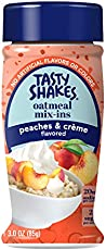Tasty Shakes Oatmeal Mix-ins, Peaches & Cream, 3 Ounce (Pack of 6)