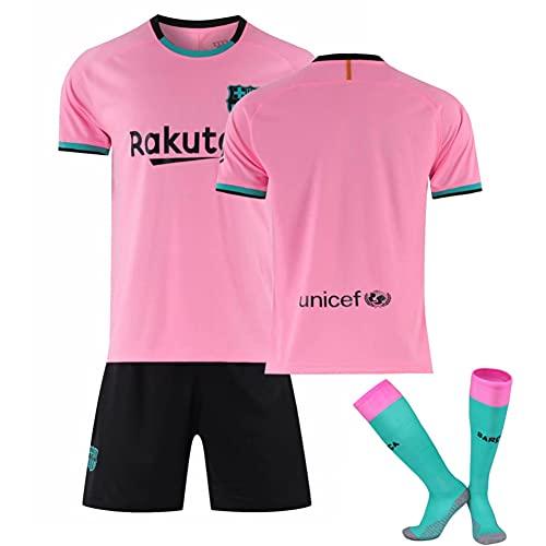 IFIKK Chándales de Fútbol para Niño Hombre Camiseta de Fútbol Primera Equipación Unisex Retro Uniformes de Fútbol para Adultos y Niños Camiseta Corta Pantalones Cortos Calcetines (B, S)