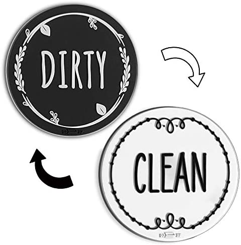 Circle Clean Dirty Silicone Dishwasher Magnet Sign Double Sided Dish Washer Indicator Strong product image