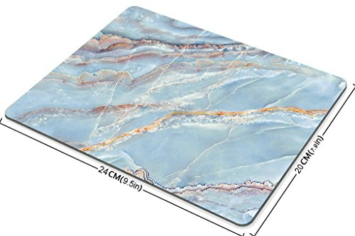 Smooffly Gaming Mouse Pad Custom,Blue Marble Texture Non-Slip Rubber Mouse Pad 9.5x7.9 Inch Photo #3