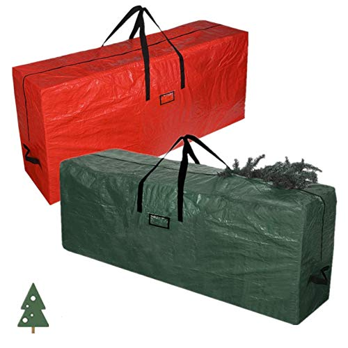 Christmas Tree Storage Bag Artificial Tree Storage Container for Christmas Tree Up to 7.5ft,Waterproof Tree Container Bag Large Box Tote with Handles 52' x 20' x 16'