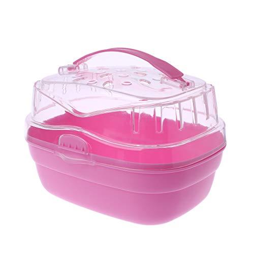 ZOOMY Hamster Tragetasche Käfig Haustier Reise Outdoor Carrier Portable Go Out Box für kleine Tier Meerschweinchen-Pink