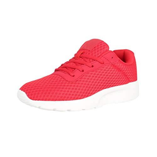 Elara Zapatillas de Deporte Unisex Chunkyrayan Rojo H092 Red-40