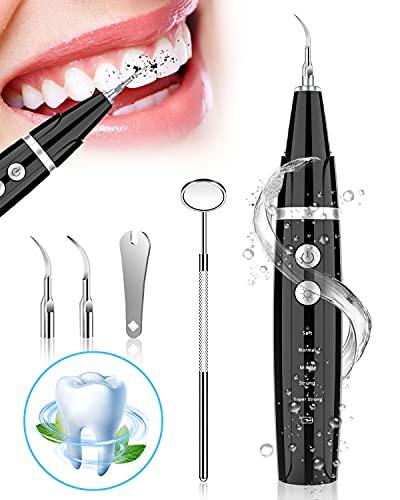 Zahnreinigung Set, NIYPS Zahnreinigungsset für Pflege von Zahn Zu Hause, Es gibt 5 einstellbare Modi und 3 austauschbare Reinigungsköpfe. USB-Wiederaufladbar, Erwachsene und Kinder können verwenden