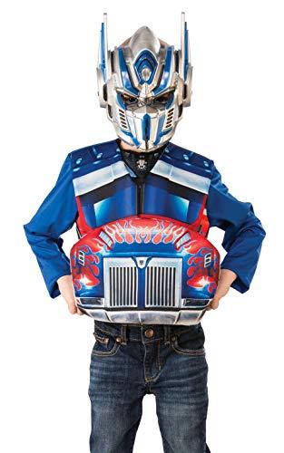 Rubie's Offizielles Transformers Optimus Prime Transformer-Kostüm, Deluxe-Charakter-Kostüm, Oberteil und Maske, Alter 4–6 Jahre