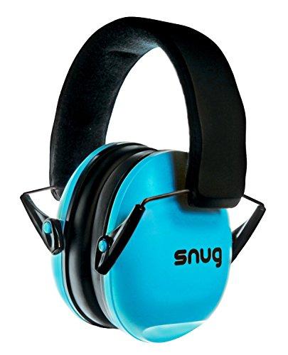 Snug Kids Earmuffs/Best Hearing Protectors – Adjustable Headband Ear Defenders For Children and Adults (Aqua Blue)