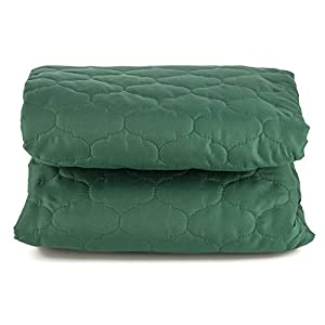 "Dormire Reversible Quilted Furniture Protector with Elastic Strap for Sofa - Machine Washable - 70"" X 110"" - Green / Light Green"