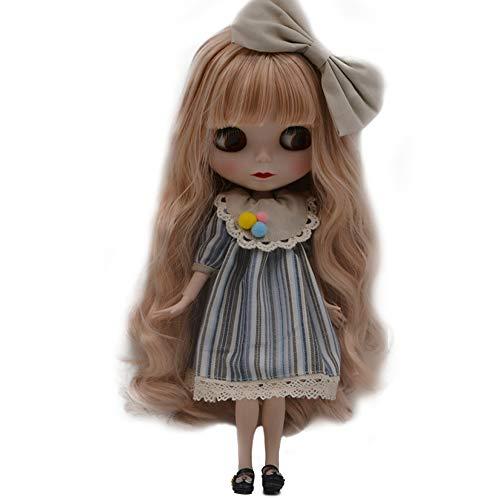 Fsolis 1/6 BJD Puppe ist der Neo Blythe ähnlich,4-farbige wechselnde Augen Mattes Gesicht und Puppen mit Kugelgelenken am Körper,12 Zoll bei denen Make-upund Kleid selbst gemacht Werden können