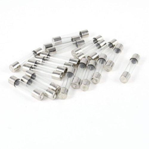 DealMux 20pcs rápida Golpe del tubo de cristal fusible 10A 250V 6mm...