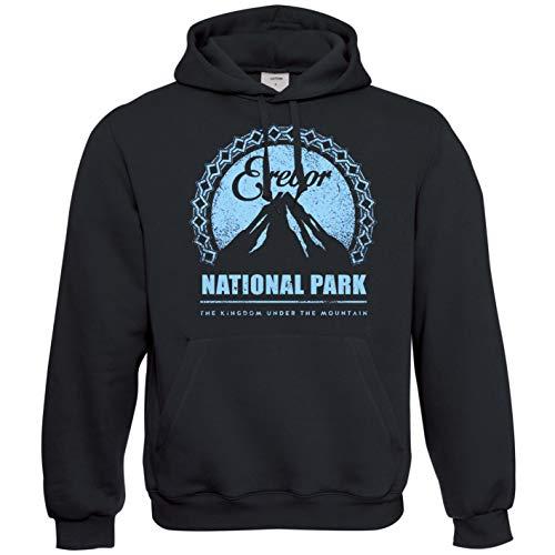 Viper Erebor National Park LOTR Inspired Hoodie (Black, L)