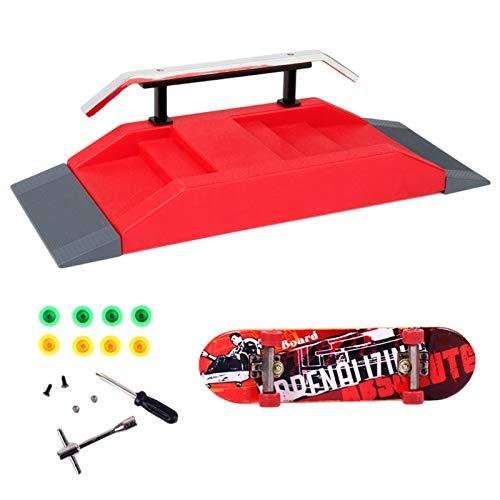 Finger - Monopatín para park, skate park Ramp Kit Kids Mini Finger Skateboard Skate Park Kit