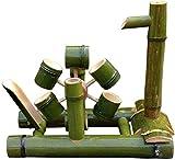 L.TSN Kit de Fuente de bambú Acentos Bomba de Agua característica Deacute; bocina Boquilla de Agua con Bomba Esculturas Estatuas Artesanía para jardín Deacute; coration-40cm