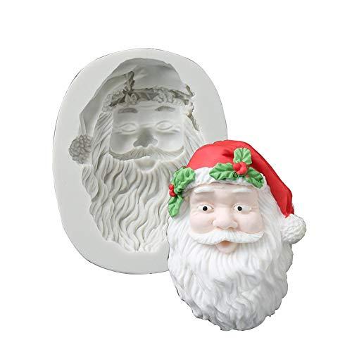 Verloco bakvorm van silicone, handgemaakt, vorm van de kerstman, zeepvorm, voor chocolade, cake, voor het bakken van vormen, handgemaakt, soap voor het knutselen van kaarsen