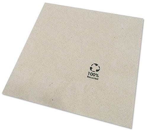 BIOZOYG Umweltfreundliche Bio Servietten aus Recyclingpapier I Hochwertige Papierservietten 33 x 33 cm I 2400 Stück Cocktailservietten ungebleicht, biologisch abbaubar, kompostierbar