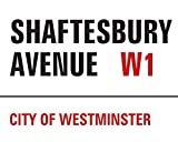 The London Nº1 Londres Shaftsbury Avenue Lienzo Impresiones, Multicolor 40x 50cm