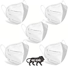 SHOPERIYA KN95 Washable Reusable Anti Pollution Dust Face Mask For Mask for Kids,Adults,Men & Women Outdoor Protection 6 Layer Filtration with Filter Made in India (Pack of 5)