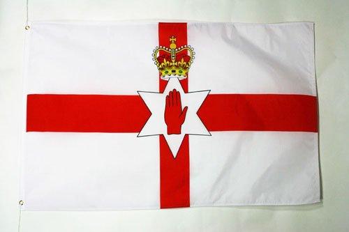 AZ FLAG Flagge NORDIRLAND 90x60cm - IRISCHE NORDFAHNE Fahne 60 x 90 cm - flaggen Top Qualität