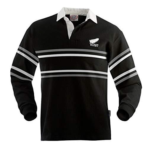New Zealand Split Stripe Rugby Jersey (Medium) Black