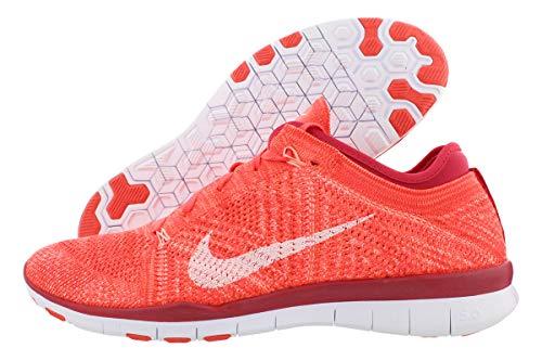 Nike Damen WMNS Free TR Flyknit Gymnastikschuhe, Orange Brght Crmsn Weiß PRM Rd ATMC, 36 EU