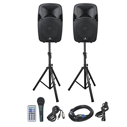 PRORECK PARTY 12 Portable 12-Inch Woofer 2-Way Powered PA Speaker System