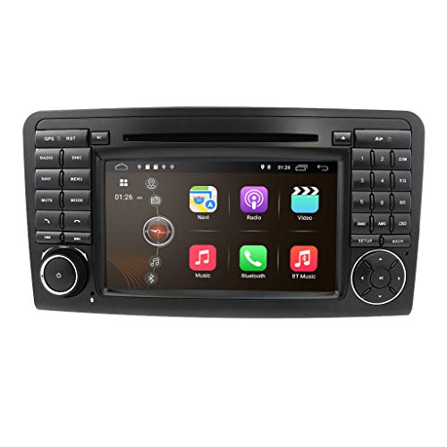 Android 10 Auto Audio Stereo für Mercedes Benz ML-Klasse W164 GL X164 1024 * 600 Touch DVD Player Double Din Head Unit unterstützt GPS Sat NAV DAB + RDS Radio Spiegel Link SWC 4G WiFi Cam in