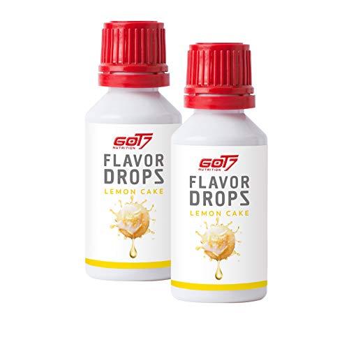 Got7 Flavordrops 2x30ml - Aromatropfen – Flavordrops Kalorienfreies Aroma Lebensmittelaroma Diät Fitness (Lemon Cake - Zitronenkuchen)