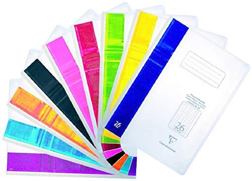Clairefontaine 973226C Schulheft Koverbook, indiviudalisierbar, perfekt für Ihre Organisation, DIN A4, 21 x 29,7 cm, 16 Blatt, 90g, kariert mit Rand, 1 Stück, transparent
