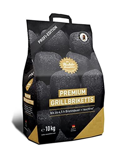 Gartenwelt Riegelsberger Kohle Manufaktur Premium Grillbriketts rauchfrei* bis zu 4,5 Std. Brenndauer Made in Germany 10 kg Set