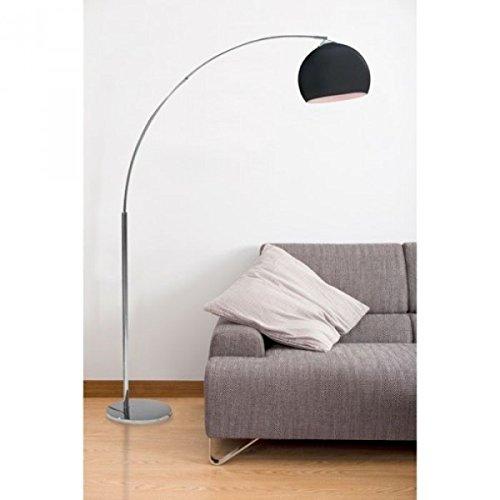 DESI Vloerlamp met zwarte boog - H 166 cm - Hedendaags