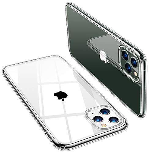 TORRAS Crystal Clear iPhone 11 Pro Max Hülle [Anti Gelb und Dünn] Weiche Silikon Clear iPhone 11 Pro Max Case Stoßfest TPU Handyhülle für iPhone 11 Pro Max - Transparent