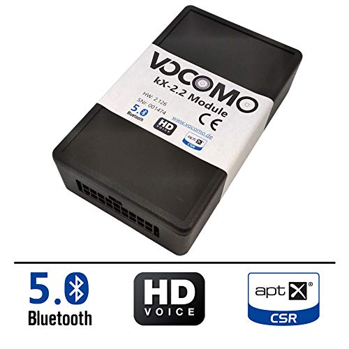 VOCOMO kX-2 Bluetooth Freisprecheinrichtung für BMW 1er (F20,F21), 2er (F22,F23), 3er (F30,F31,F34,F35), 4er (F32,F33,F36), 5er (F07,F10,F11), 6er (F06,F12,F13), X3 (F25), Mini (F54,F55,F56,F57,F60)