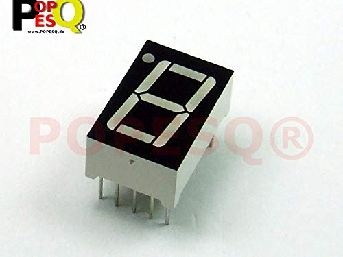 POPESQ® - 1 Piezas x 7-Segment Display 14.2mm 1 Digito Comun Anodo Rojo / 1 pcs. x 7-Segment Display 14.2mm 1 Digit Common Anode Red #A1285