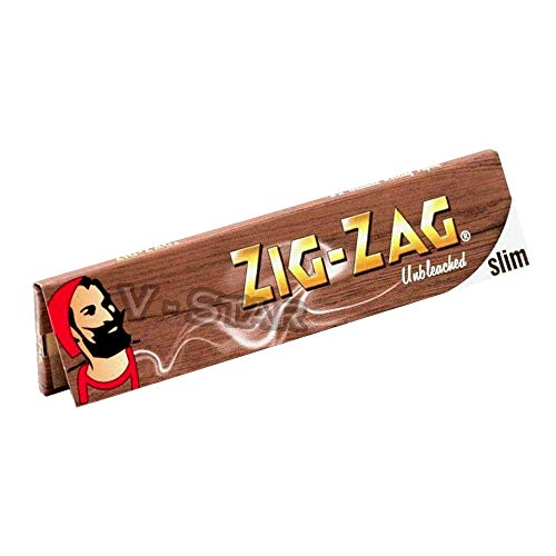 ZIG ZAG UNBLEACHED SLIM KING SIZE ROLLING PAPER (1)