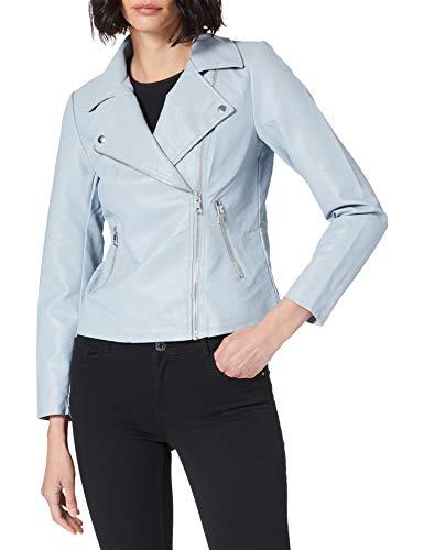 Only ONLMELISA Faux Leather Biker CC OTW Kunstlederjacke, Blue Fog, XS para Mujer