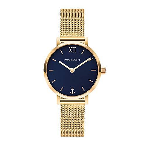Paul Hewitt Damen Analog Quarz Uhr mit Edelstahl Armband PH-SA-G-XS-B-45S