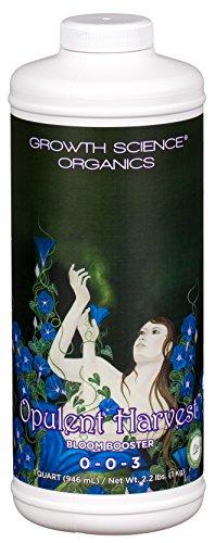 Growth Science Organics  Opulent Harvest 003 : Bloom Booster Quart