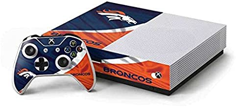 Skinit Decal Gaming Skin for Xbox One S Console and Controller Bundle - Officially Licensed NFL Denver Broncos Design