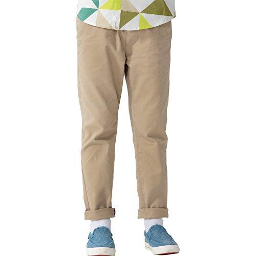 Leo&Lily Boys' Kids' 100% Cotton Twill Elastic Waist Regular Fit Pants Trousers (Khaki, 14)