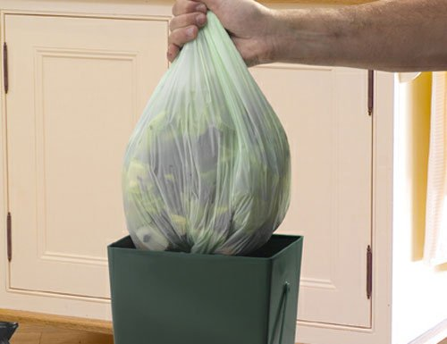 Review Garland 100 x Biodegradeable Liners 5-Litre Compost Caddy, Transparent, 20x5x25 cm