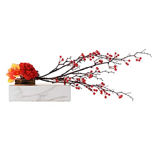SHUMACHENG2020 Artificial Flowers Chinese Artificial Flower Set Ceramic Fake Flower Pot Plant, Suitable For Villa Hotel Family Wedding Decoration, Artificial Plant Artificial Bonsai Fake Flowers