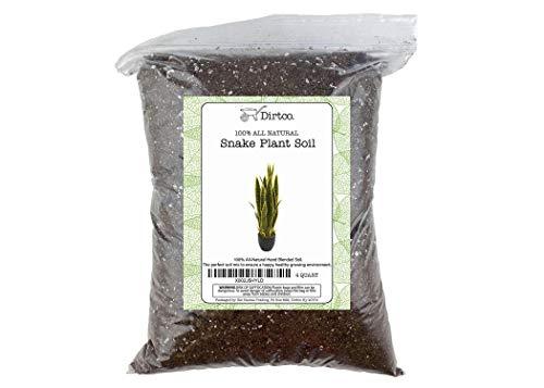 Soil Mixture for Snake Plants, Specialized Soil Mix for Green Sansevieria Trifascatia Zeylanica Plants, Plant or Re-Pot Your Snake Plant, 4qt