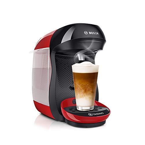Bosch Tassimo Happy TAS1003 – Machine à café à capsules – Cafetière multi boissons pour plus de 40 boissons – Avec technologie intellibrew – 1400 W – Couleur : Rouge