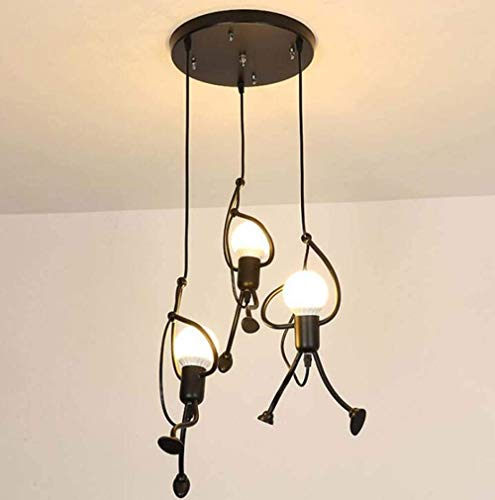 Candelabro de hombre pequeño candelabro de restaurante retro de hierro forjado candelabro creativo de tienda de ropa de café B