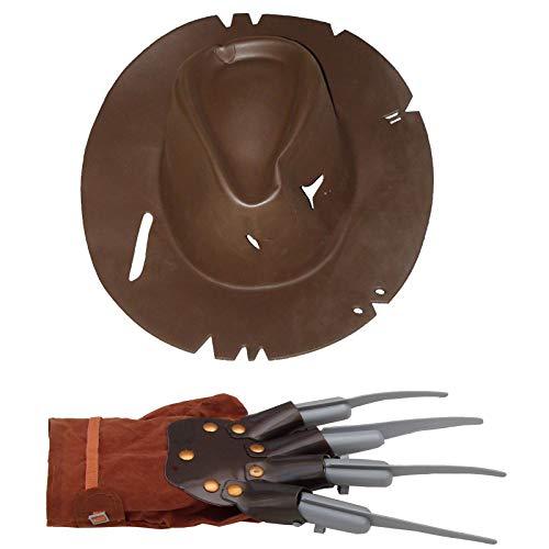 Hut und Klingenhandschuh Freddy für Albtraumkostüm Kostüm Night mare Gruselkostüm